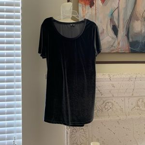 ASOS Gray velvet short sleeve  t-shirt mini dress
